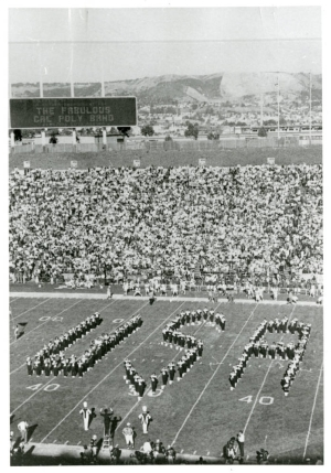 Cal Poly Mustang Band in 1976