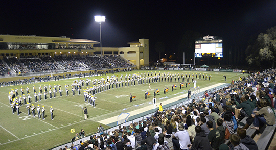 Mustang Band in Spanos Stadium